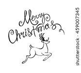 deer merry christmas poster... | Shutterstock .eps vector #459007345