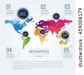 simple vector infographics... | Shutterstock .eps vector #459008179