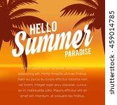 summer illustration. vacation... | Shutterstock .eps vector #459014785