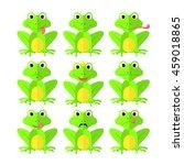 frog set of flat style on white ...   Shutterstock .eps vector #459018865