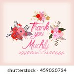 thank you muchly with... | Shutterstock . vector #459020734