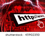 digital space background | Shutterstock . vector #45902350