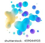 abstract 3d colorful gradient... | Shutterstock . vector #459044935