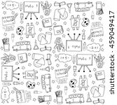 education doodles vector stock... | Shutterstock .eps vector #459049417