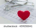 heart  stethoscope on... | Shutterstock . vector #459050041