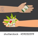 drug buy. give money and take... | Shutterstock .eps vector #459050599