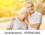 happy senior couple in the... | Shutterstock . vector #459061681