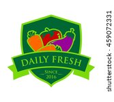 vegetable and healthy food logo ... | Shutterstock .eps vector #459072331