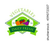 vegetable and healthy food logo ... | Shutterstock .eps vector #459072337