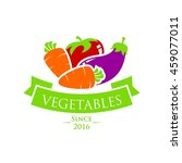 vegetable and healthy food logo ... | Shutterstock .eps vector #459077011