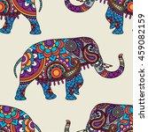 Doodle Indian Elephant Seamles...