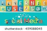 social media vector concept.... | Shutterstock .eps vector #459088045