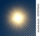 vector glowing yellow sun with... | Shutterstock .eps vector #459095641
