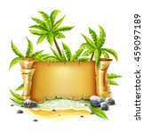 travel banner with old... | Shutterstock .eps vector #459097189