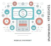 flat line business concept... | Shutterstock .eps vector #459101431