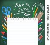 back to school poster...   Shutterstock .eps vector #459110365