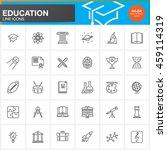 education line icons set ... | Shutterstock .eps vector #459114319