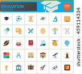 education vector icons set ... | Shutterstock .eps vector #459114334