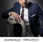 young handsome bearded... | Shutterstock . vector #459125515