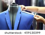 suit male  sewing measuring.... | Shutterstock . vector #459130399