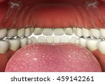 close up of human mouth inner ... | Shutterstock . vector #459142261