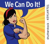 we can do it. retro cartoon... | Shutterstock .eps vector #459149701