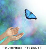 into the light   metaphorical... | Shutterstock . vector #459150754