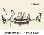 sketch of the halong bay ... | Shutterstock .eps vector #459151534