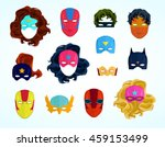 comic superhero masks set.... | Shutterstock .eps vector #459153499