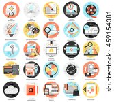 flat conceptual icons set of... | Shutterstock .eps vector #459154381