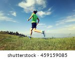 healthy young woman trail... | Shutterstock . vector #459159085