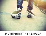 freeline skateboarder legs... | Shutterstock . vector #459159127