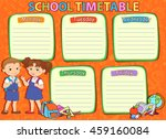 school timetable thematic image ... | Shutterstock .eps vector #459160084