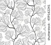 seamless pattern with lily... | Shutterstock .eps vector #459162241
