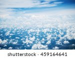 blue sky with clouds background | Shutterstock . vector #459164641