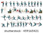 large set of businessman...   Shutterstock . vector #459165421