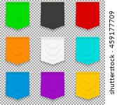 set of nine colorful bright... | Shutterstock .eps vector #459177709