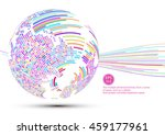 colorful abstract mosaic sphere ... | Shutterstock .eps vector #459177961