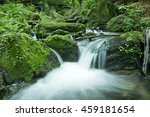 Cascade Falls Over Mossy Rocks...
