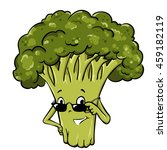 organic farm cartoon broccoli... | Shutterstock .eps vector #459182119