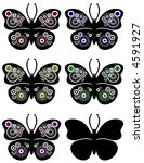 butterfly in different colors.... | Shutterstock . vector #4591927