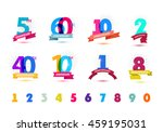 vector set of anniversary... | Shutterstock .eps vector #459195031