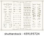 big set of elements for wedding ... | Shutterstock .eps vector #459195724