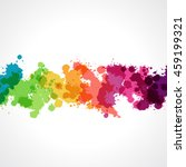 collection of paint rainbow... | Shutterstock .eps vector #459199321