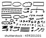 doodle infographics elements... | Shutterstock .eps vector #459201331