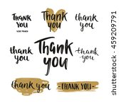 set of vector thank you cards ... | Shutterstock .eps vector #459209791