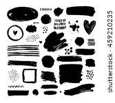 vector brush strokes  ink...   Shutterstock .eps vector #459210235