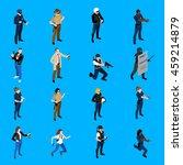 set of isometric icons... | Shutterstock .eps vector #459214879
