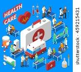 doctor patient communication...   Shutterstock .eps vector #459215431