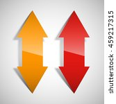 two curved arrow. 2 direction... | Shutterstock .eps vector #459217315